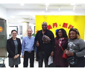 Welcome The Client of Angola Visit Mei Dan Office