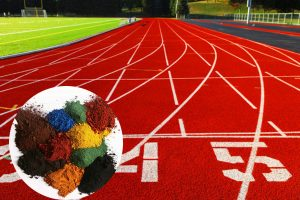 Mei Dan Pigments Used to Color Athletic Track